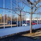 Parkplatzspiegelung