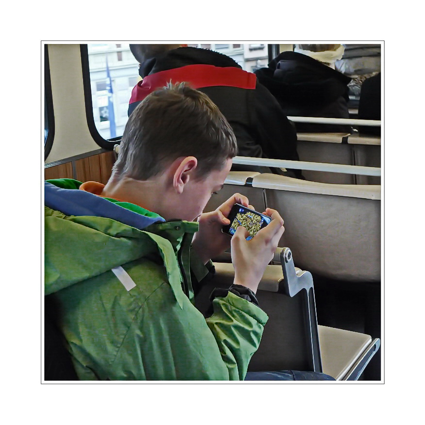 ... part of a  story, gameboy riding west