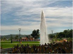 Particolare del nuovo giardino della città di  Loures.