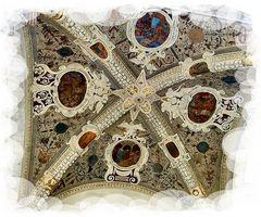 Particolare del soffito della Loggia di Siena