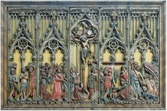 """Partie centrale du retable """"Scènes de la Passion"""" (XVIe siècle)"""