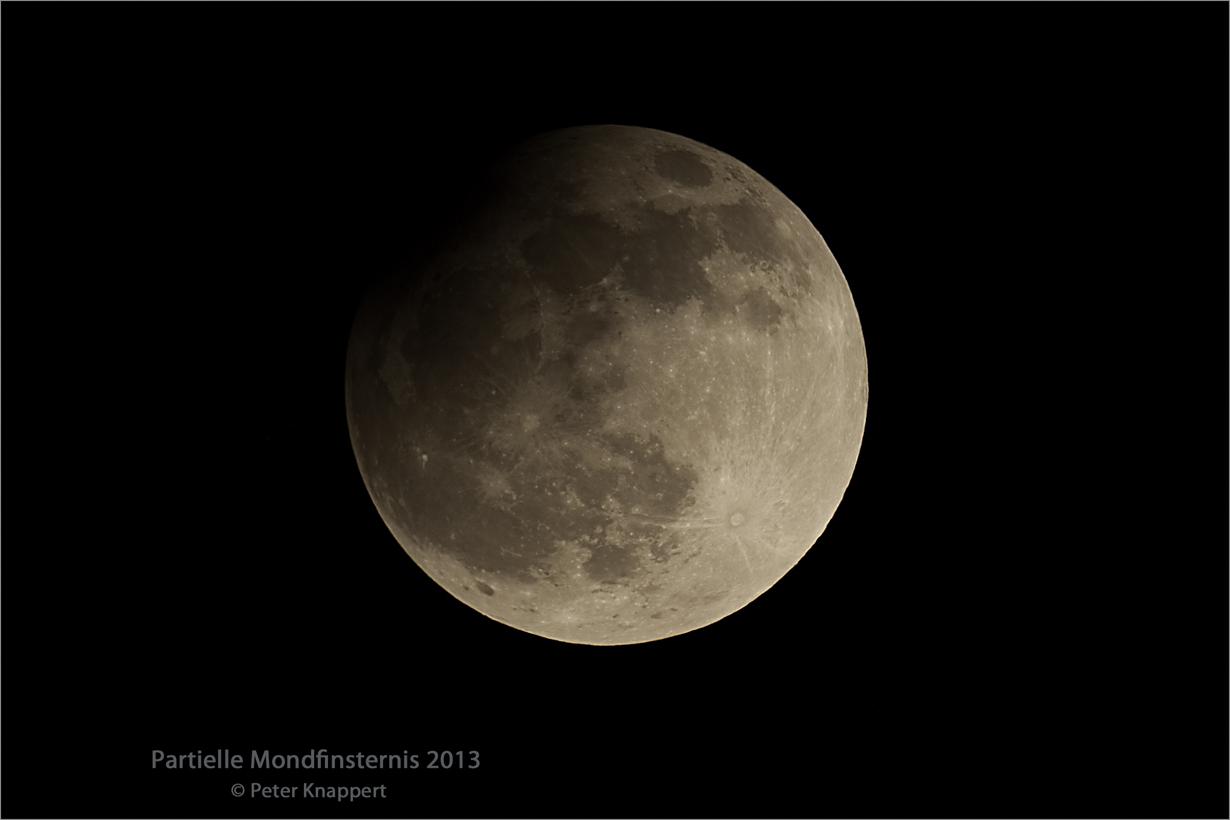Partielle Mondfinsternis 2013