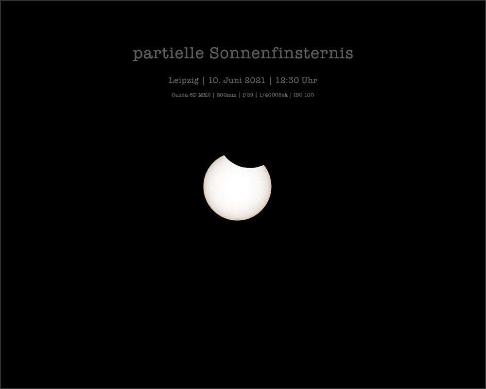 Partielle Sonnenfinsternis - 10.6.2021