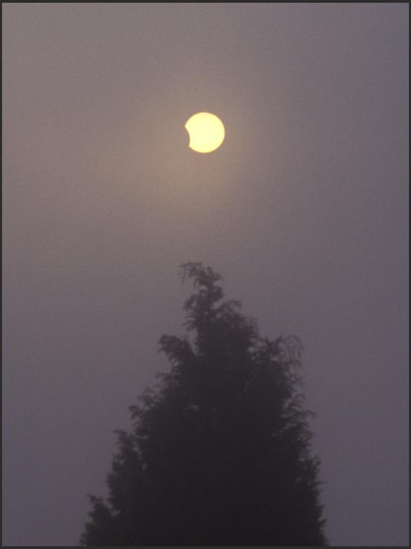 Partielle Sonnenfinsternis im Sommer 03 kurz vor ihrem Ende