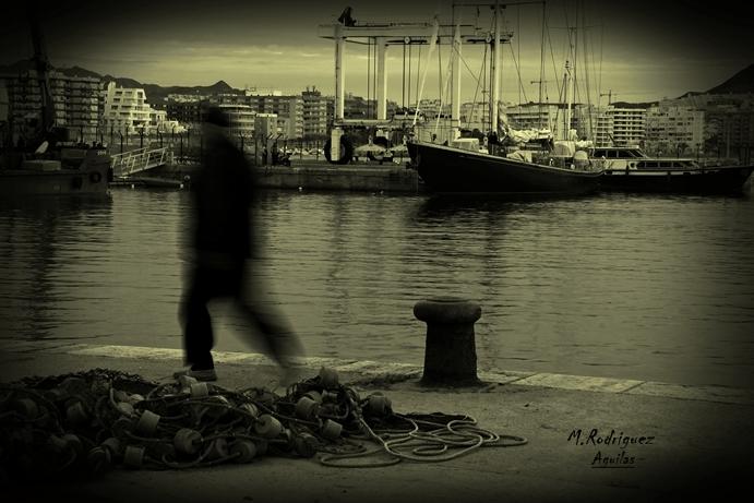 Pasando por el puerto