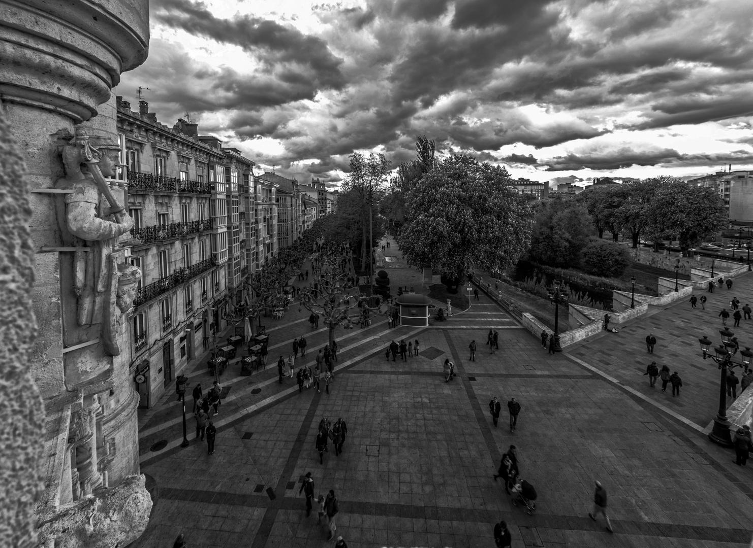 Paseo del Espolon en Burgos