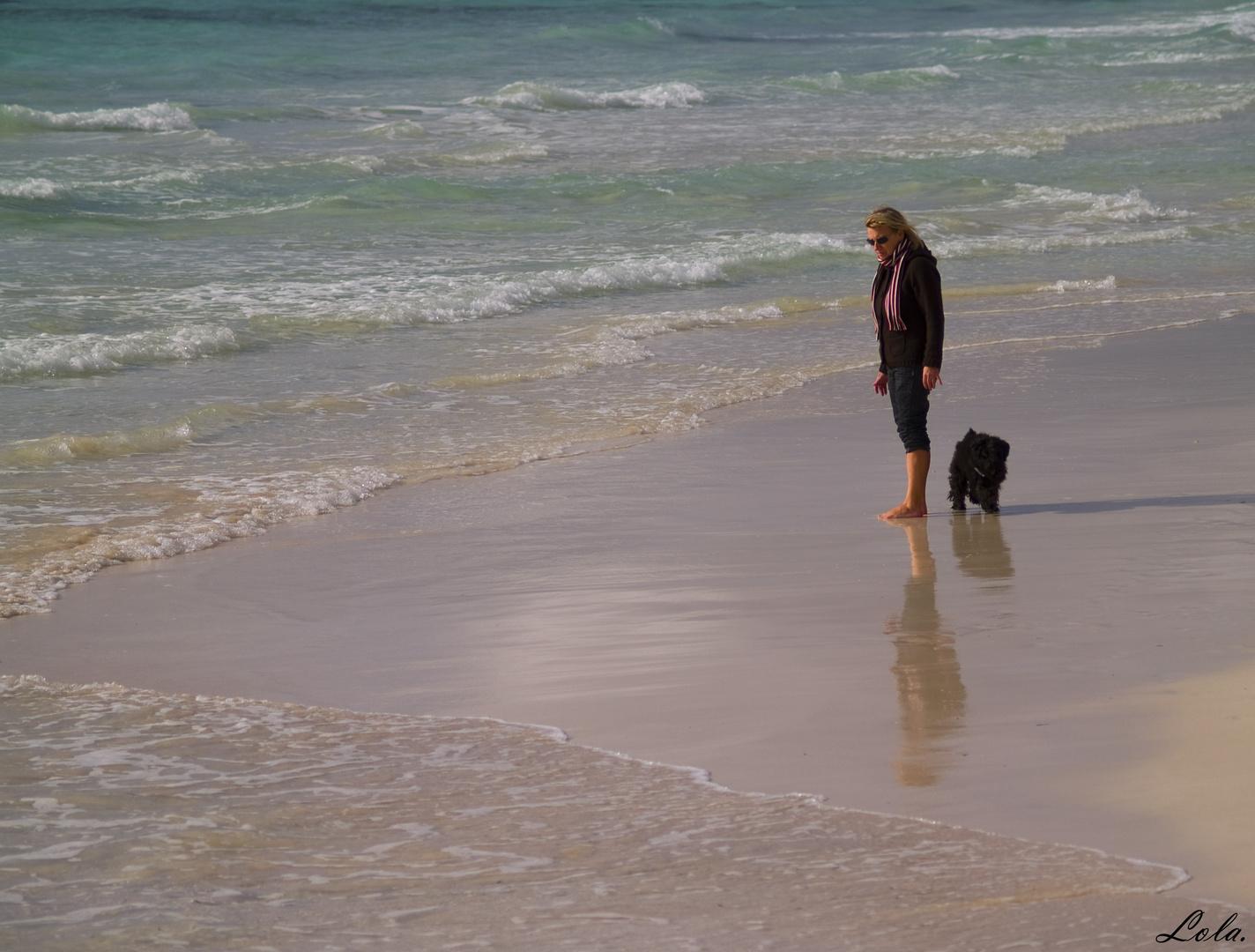 Paseo por la playa.