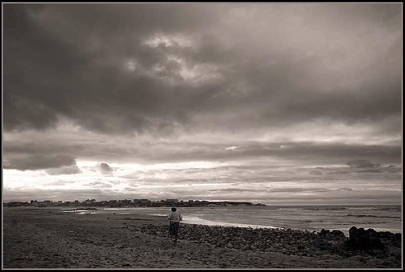 Paseo por la playa-