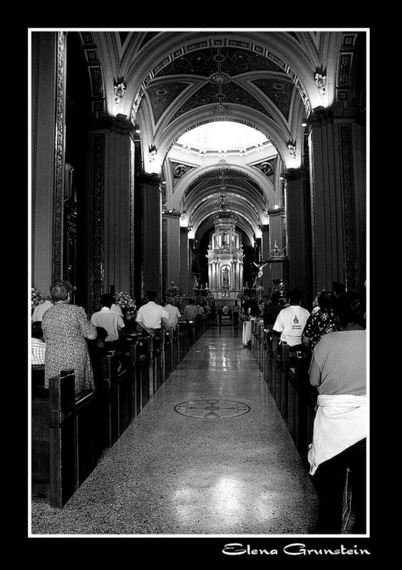 Pasillo principal de la catedral de San Luis Posí