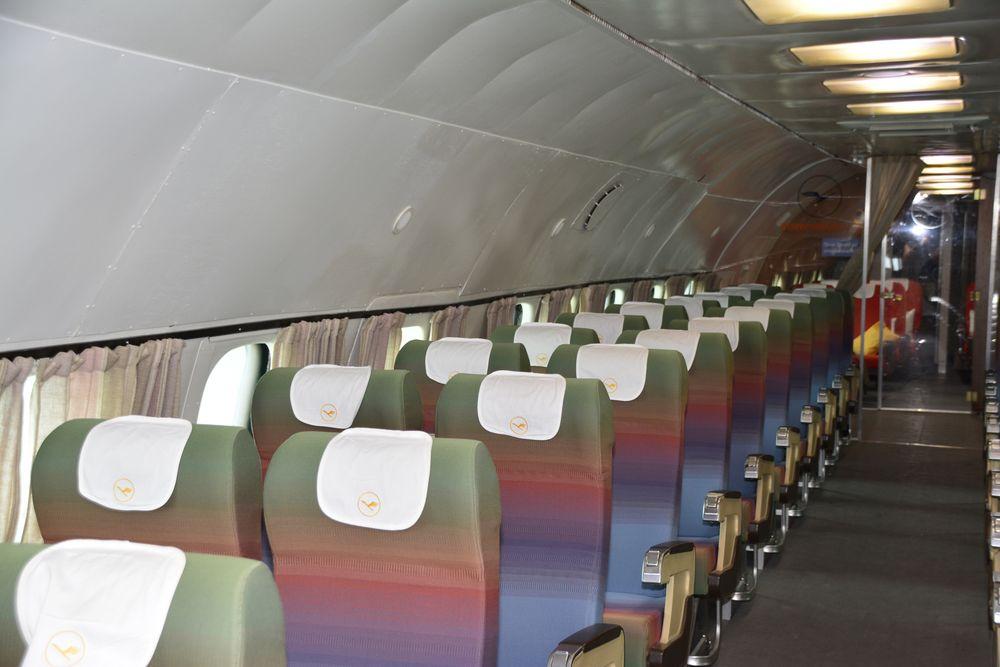 Passagierraum der Lockheed Super Constellation