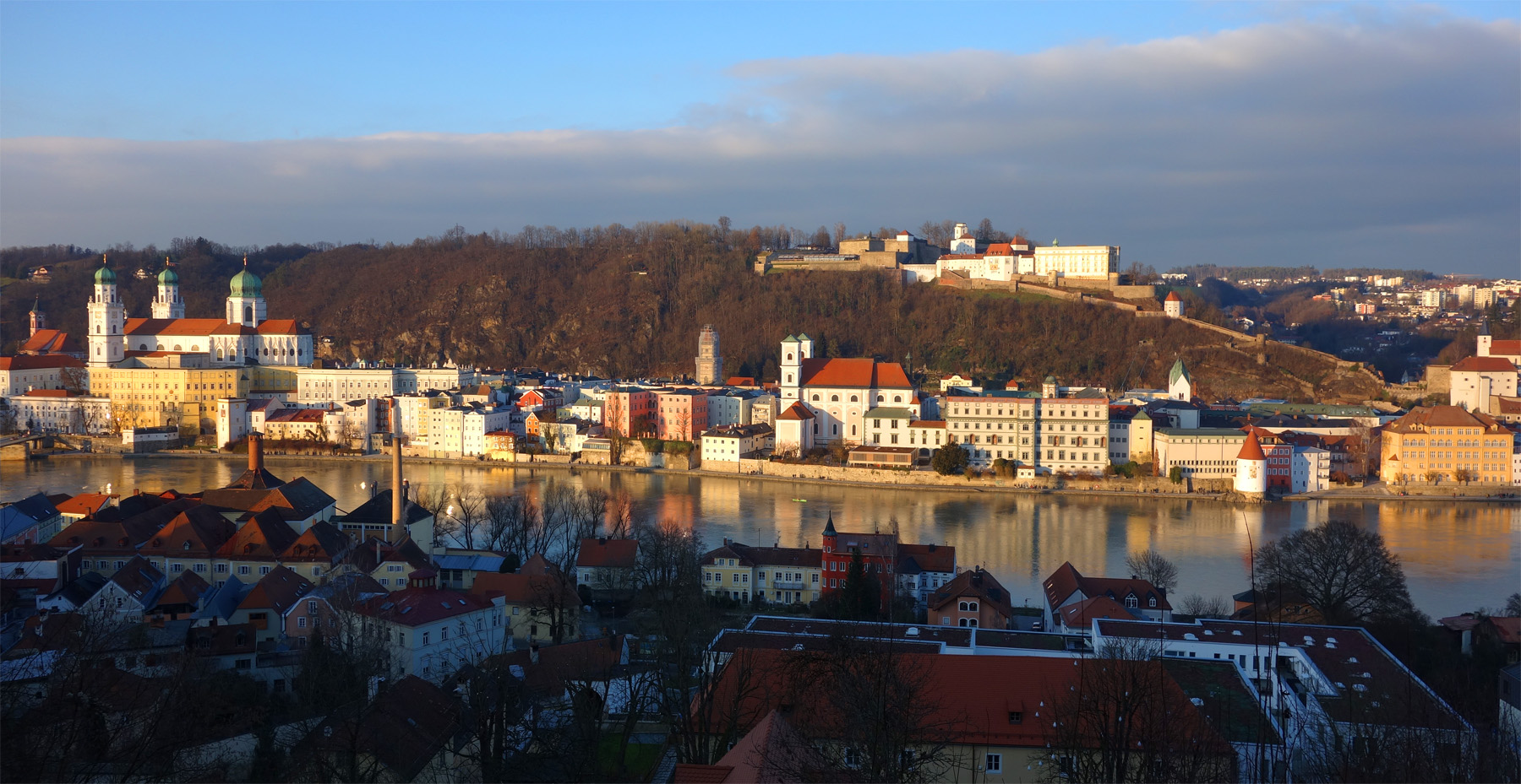 Passau, Altstadt Südseite