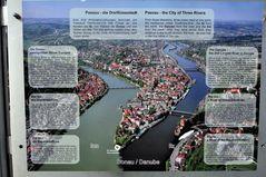 Passau - die Dreiflüssestadt an Donau, Inn und Ilz - Luftansicht