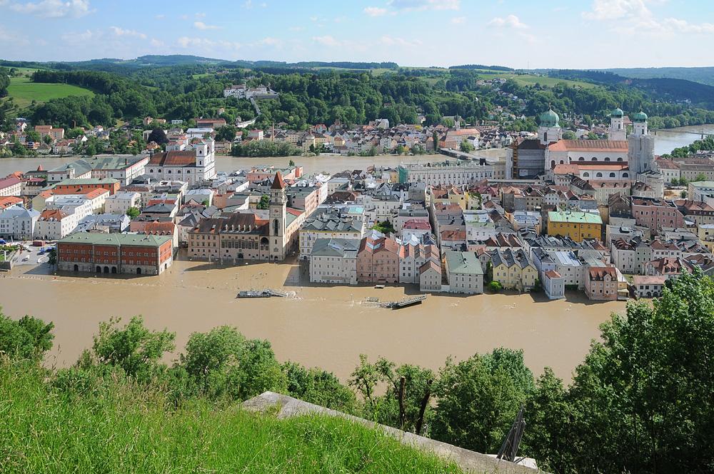 Passau, eine schwimmende Stadt