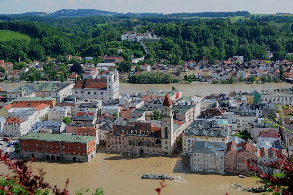 Passauer Altstadt am 5. Juni 2013