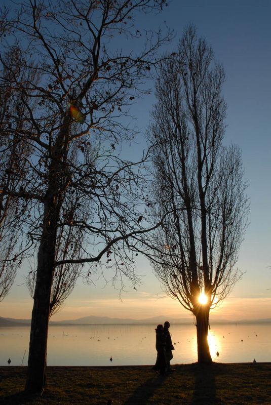 Passeggiando al tramonto