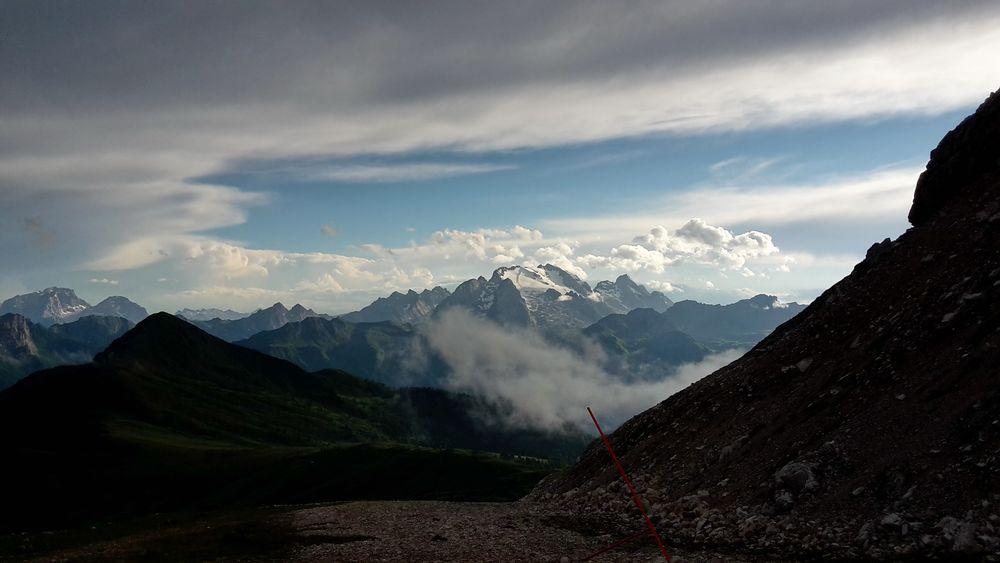 Passo Averau mit Marmoladablick