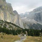 Passo Sella-Blick zurück