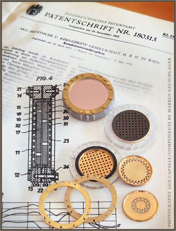 Patent AKG CK12 brass capsule Foto & Bild | metall, akg