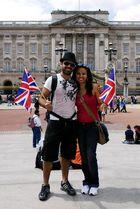 Patrioten vor dem Buckingham Palace