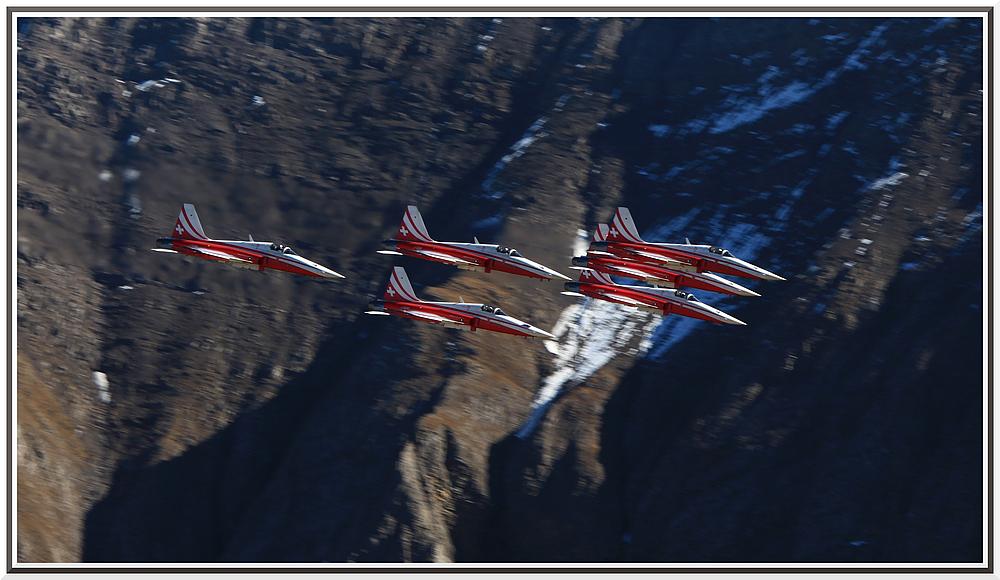 Patrouille Suisse an der Axalp 2010