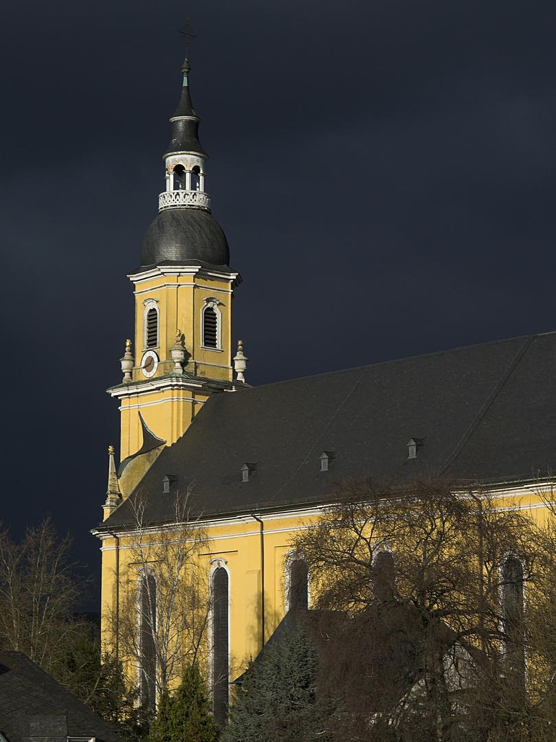 Paulinkirche im Jennerlicht (Trier Nord)
