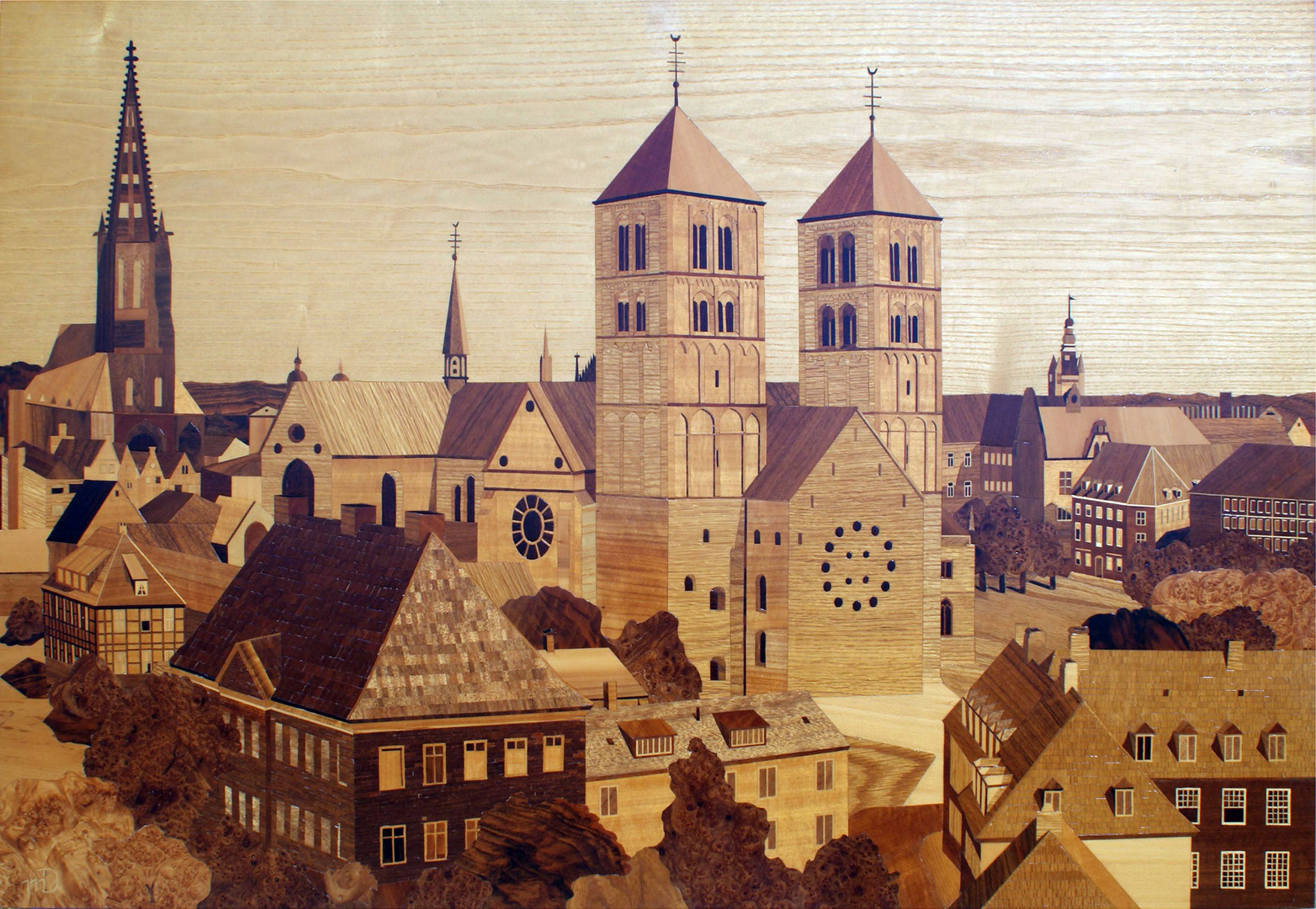 Paulusdom & Lambertikirche in Münster ( Intarsien )