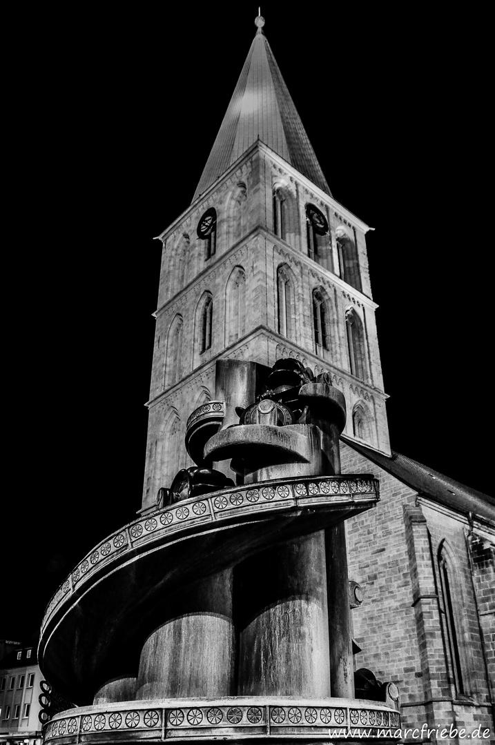 Pauluskirche Hamm bei Nacht
