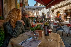 Pausa pranzo a Montepulciano