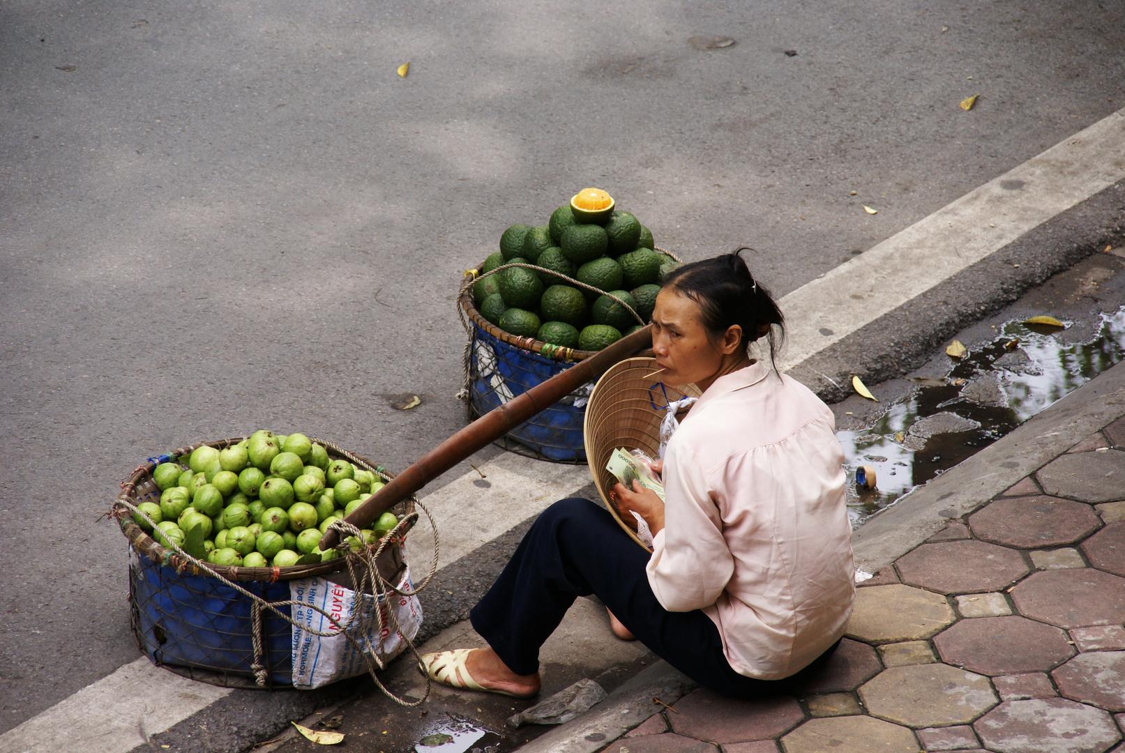 Pause auf den Strassen von Hanoi
