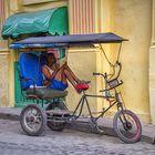 Pause! Bici-Taxi in Havanna!