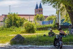 Pause in Aken an der Elbe