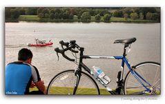 Pausing along the Potomac
