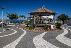 Pavillion im Jardim do Largo do Centro Histórico da Vila do Nordeste