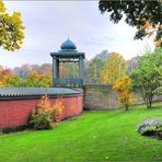Pavillon und Mauer (HDR)