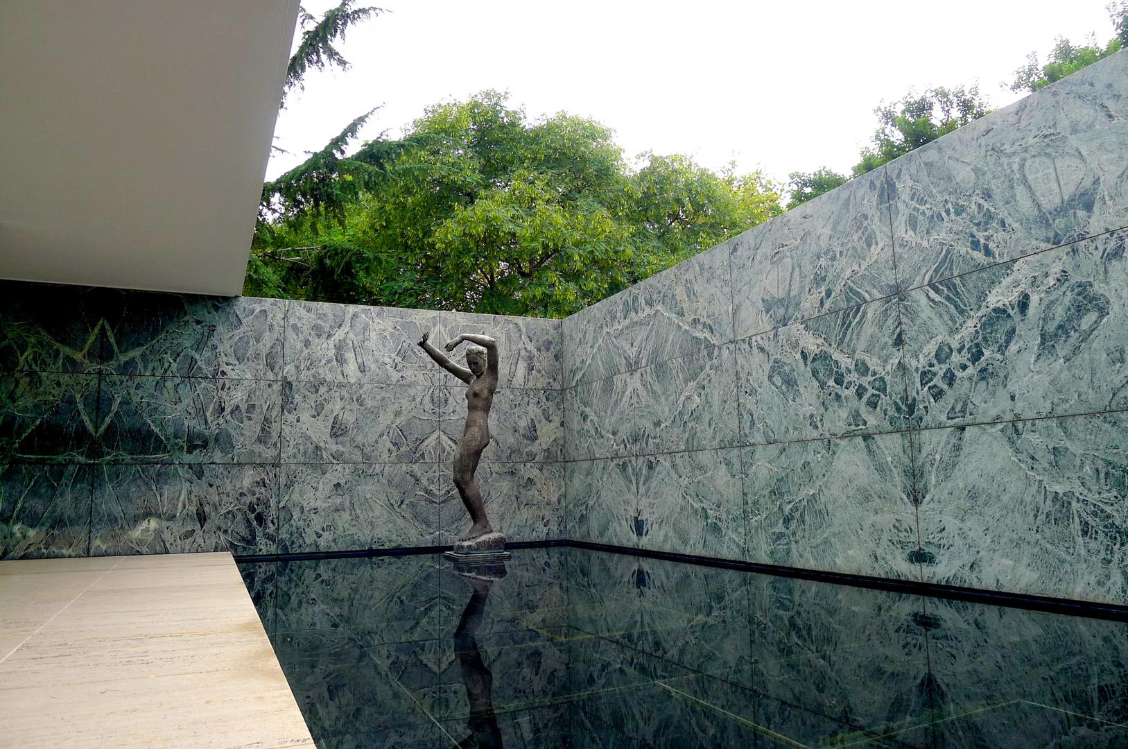 Pavillon Von Mies Van Der Rohe Barcelona Foto Bild Barcelona