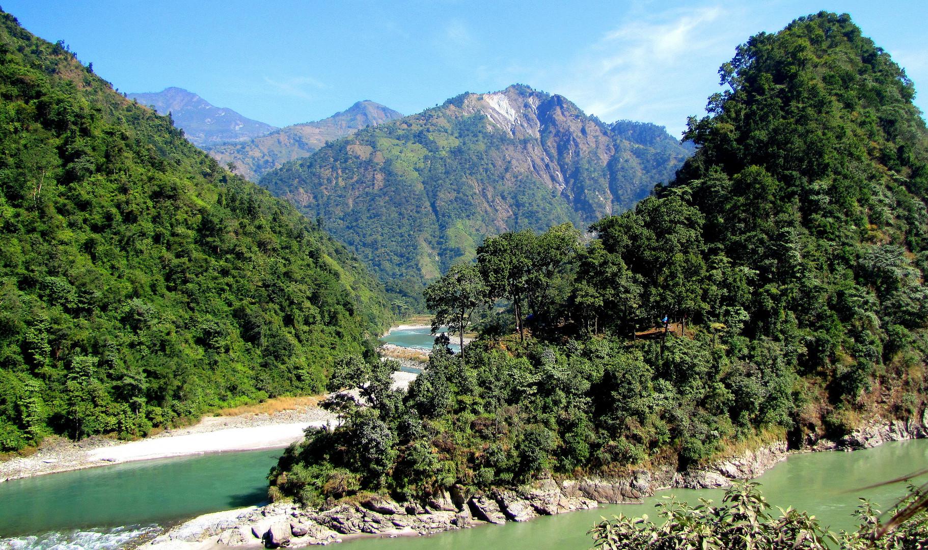 Paysage du Népal, région du Teraï.