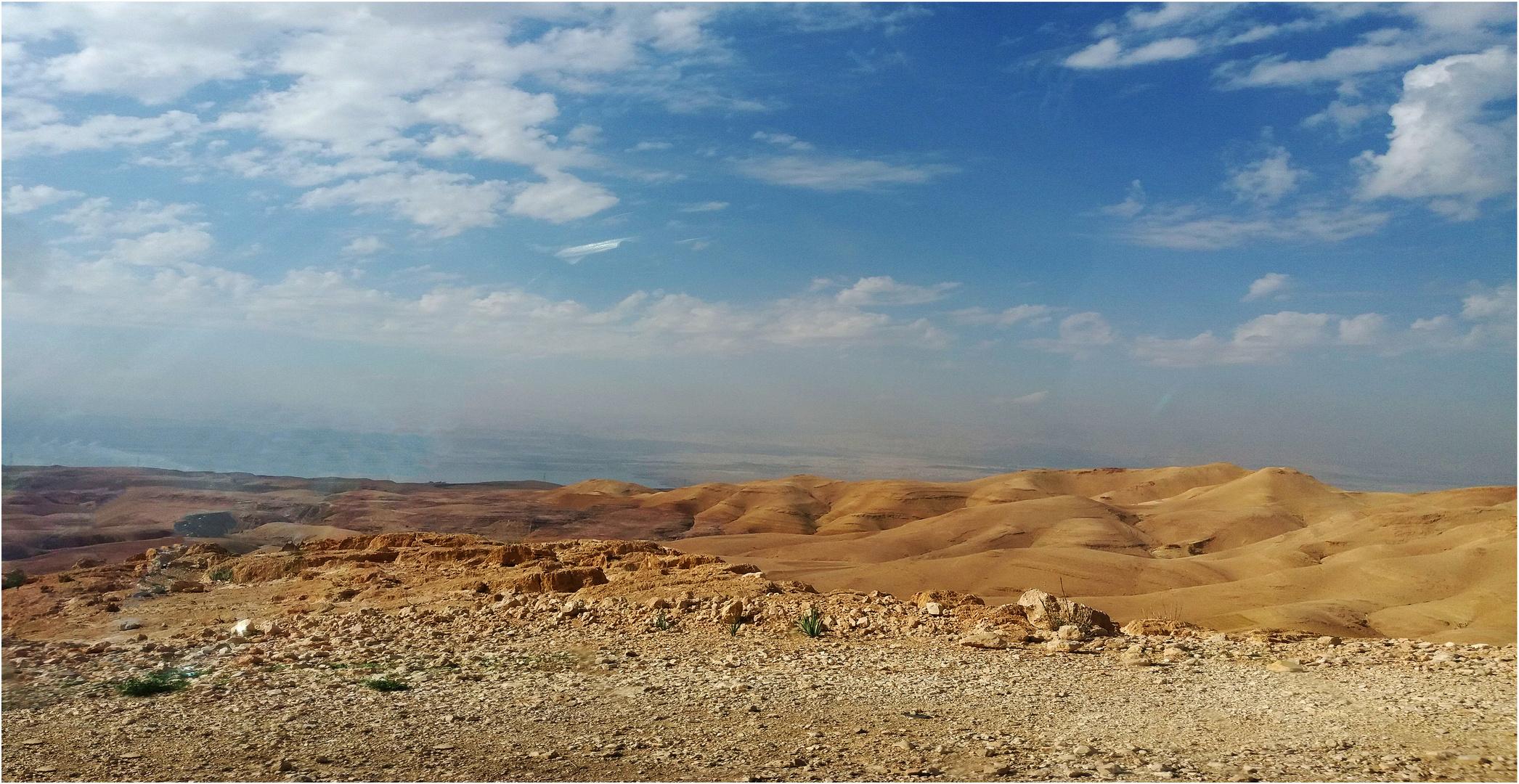 Paysage entre Amman et la Mer Morte