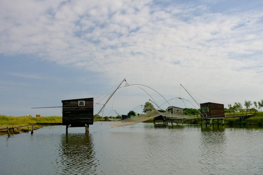 Pêche au Carrelet dans le Marais Breton