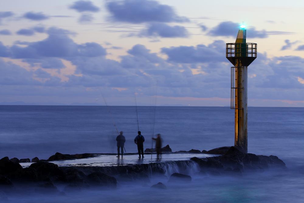 Pêcheurs de bord de mer