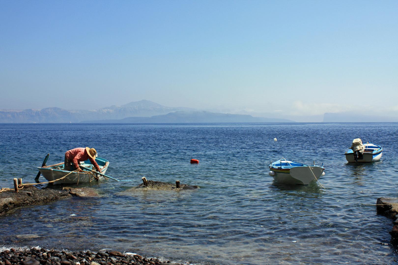 Pêcheurs de Santorin