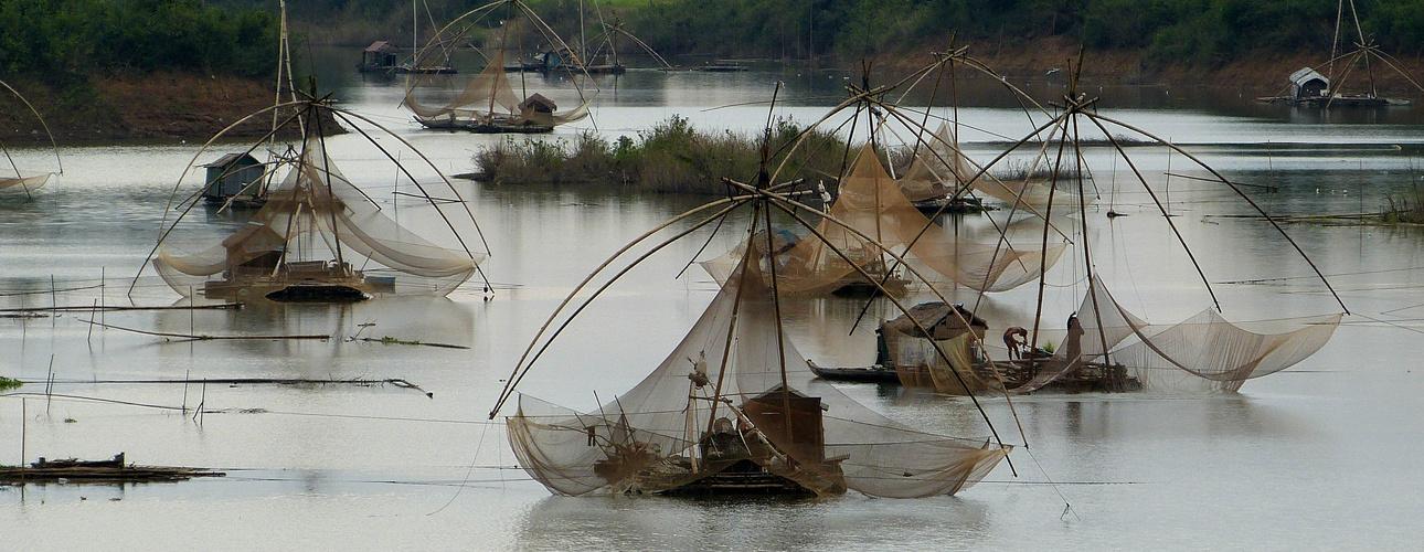 Pecheurs sur un bras du Mekong