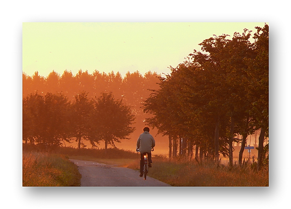 ... peddling into the sunrise (05.08.2010 ... 6:36.58 am)