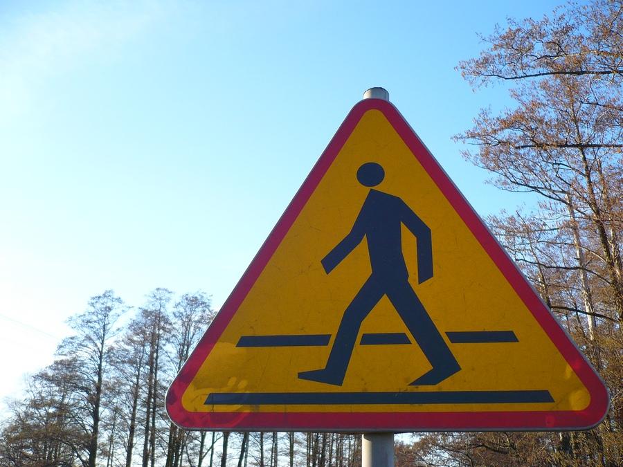 Pedestrian in Lask :-)