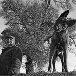 Pedro con su perro