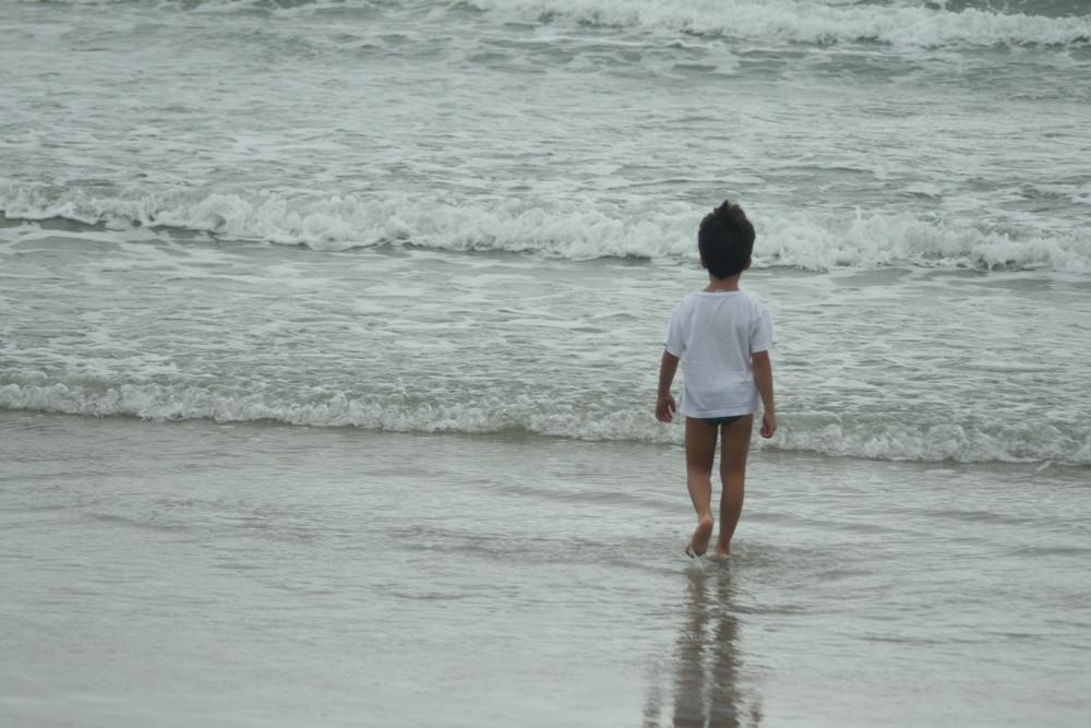 Pedro on the beach