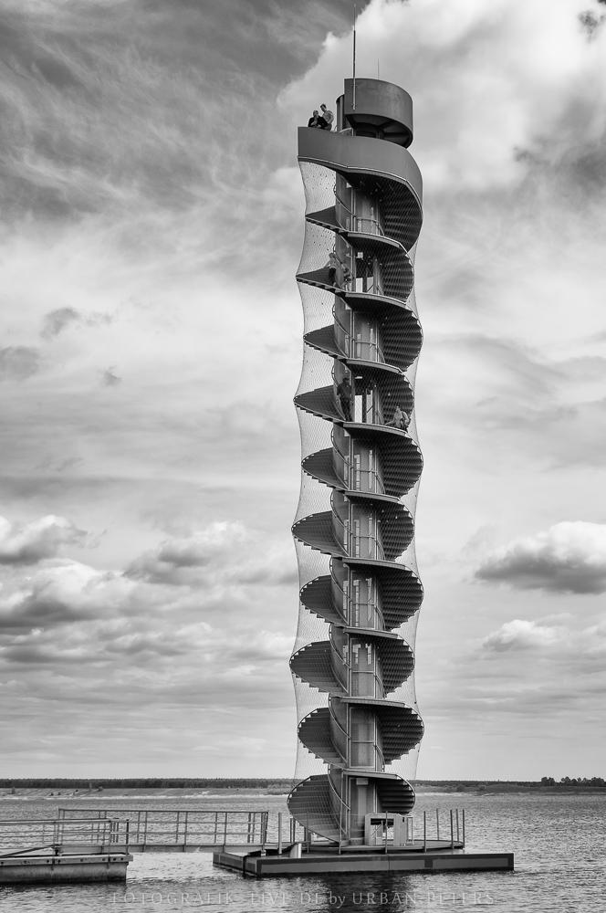 Pegelturm im Goitzschsee