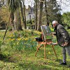 peindre l'ouverture du printemps