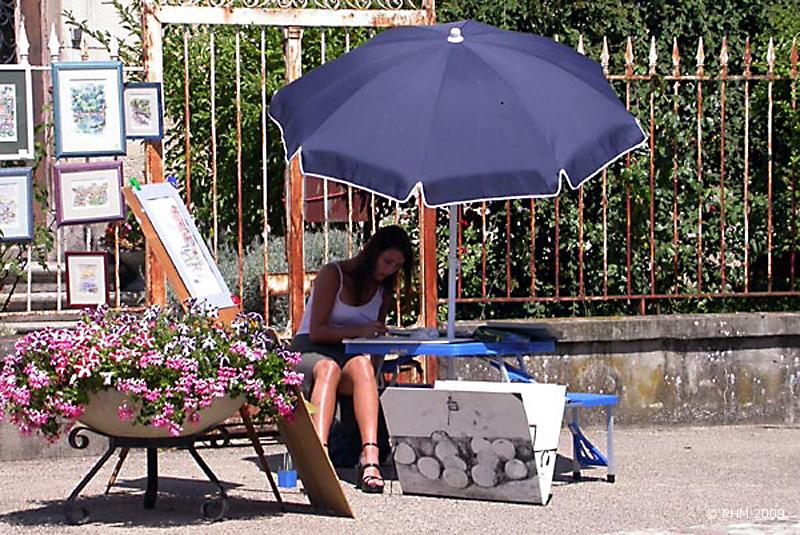 Peintre dans la rue