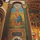 Peinture du pilier entre le choeur et le transept nord