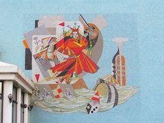 ..Peinture sur le mur du casino du Tréport..